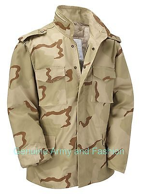 AU72.25 • Buy M65 Jacket Army Military Combat US Field Winter Quilted Lined Vintage Tri Desert