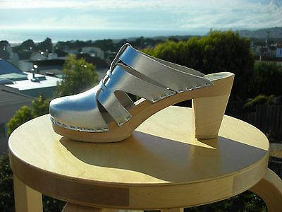 $111 • Buy Authentic Swedish High Heel Wood Clogs By Maguba