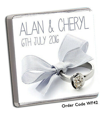 £11.99 • Buy 50 Personalised Chocolate Wedding Favours  FREE P+P! FAB 2019 Designs Top Seller