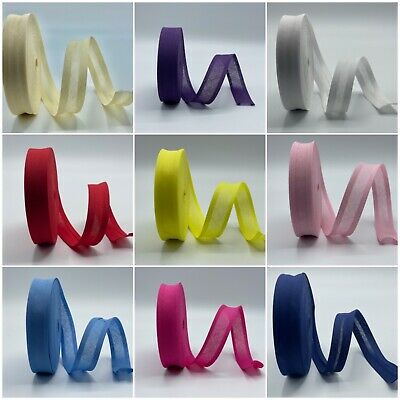 £7.95 • Buy Cotton Bias Binding Rolls One Inch Wide + Mixed Bundles All Colours