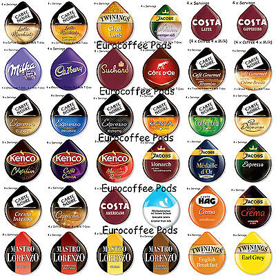 £3.49 • Buy Tassimo Coffee T-discs - Pods Capsules 4 Or 8 Cups - 48 Flavours To Select From