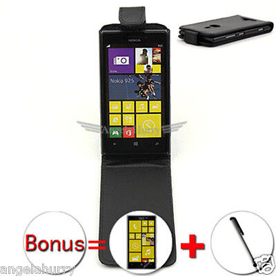 AU4.93 • Buy Premium Flip Leather Case Cover For Nokia Lumia 925+Stylus+Screen Protector