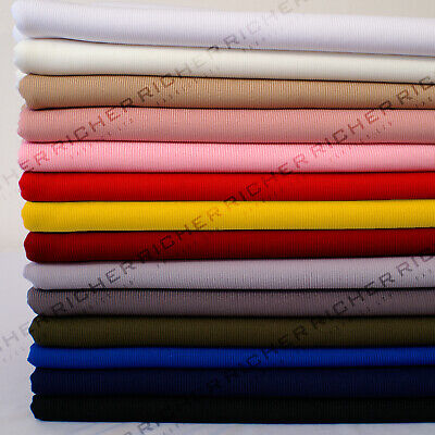 £6.50 • Buy Fine Knitted Ribbed Stretch Cuffing Fabric Material Cuffs Collars Waistbands