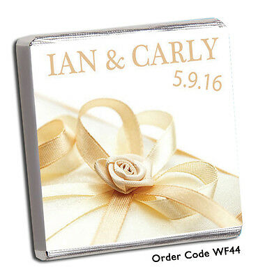 £11.99 • Buy 50 Personalised Chocolate Wedding Favours - Free Chocolate With Order A***seller