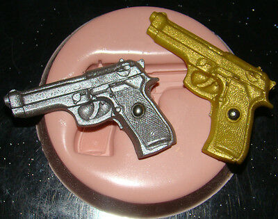 Silicone Mould James Bond Army Gun 007 Icing Cake Cupcake Decorating Fimo Clay • 6.49£