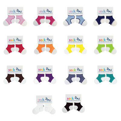 Baby Sock Ons Sock Keepers Size 0-6 Months - Choose Your Colour -QUICK DISPATCH! • 4.49£