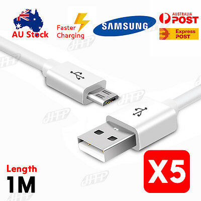 5 X 8pin USB Charger Data Sync Cable For Samsung Galaxy Mega 6.3 I9200 I9205 • 7.93AU