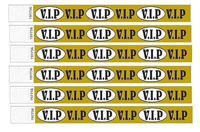 £1.99 • Buy VIP Gold Wristbands For Events, Paper Like Made Of Tyvek,Nightclubs, Parties Etc