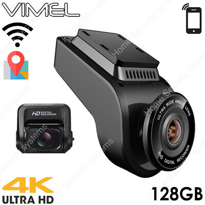 AU239 • Buy Vimel Dual Dash Camera 128GB 4K GPS WIFI Wireless Car Security Camera UBER Taxi