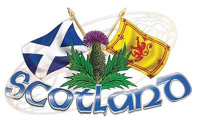 XLarge Size Scotland Thistle & Cross Flags 4X4 Race Car Truck Van Boat • 49.99£