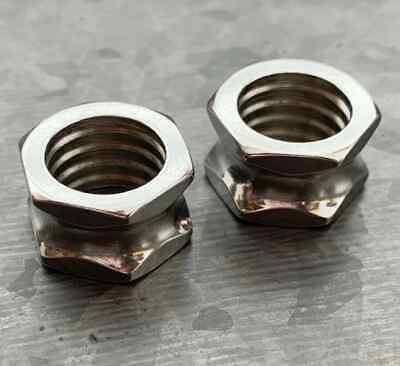 $9.95 • Buy PAIR Hexagon Bolt Tunnels Screw 316L Surgical Steel Double Flare Plugs Gauges