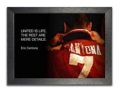 Eric Cantona United Is Life Famous Football Quote Print Manchester Legend Poster • 5.99£