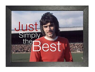 George Best Simply The Best Poster Irish Football Player Sport Star Picture  • 19.99£