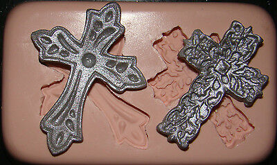 Silicone Baby Cross Mould Christening Holly Communion Baptism Icing Cupcake Cake • 5.20£