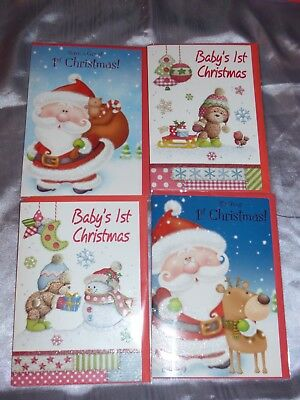 Baby's 1st Christmas Card First Cute 3d Inserted Bears Children • 1.89£