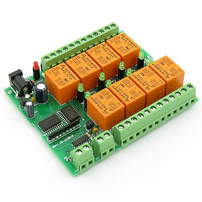 1-Wire, 8 Channel Relay Module Board Based On Dallas DS2408 Chipset • 39.87£