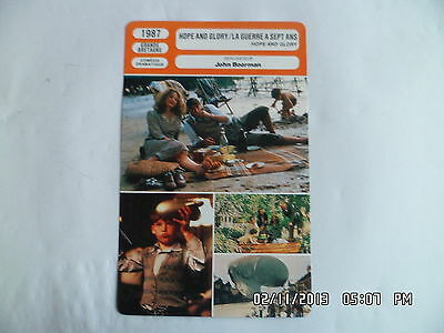 AU3.90 • Buy CARTE FICHE CINEMA 1987 LA GUERRE A SEPT ANS Sebastian Rice Edwards Sarah Miles