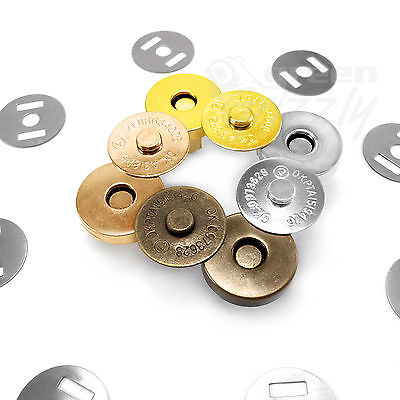 Magnetic Snaps Clasps Fastening Purses Handbags Craft Buttons 18mm Or 14mm • 1.85£