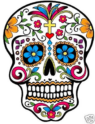 £3.99 • Buy Day Of The Dead Sugar Skull - Iron On T Shirt Transfer Or Sticker