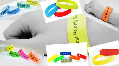 £2.70 • Buy 100 PLAIN 3/4   Tyvek Wristbands, Security, ID, Party, Events, Sporting Events