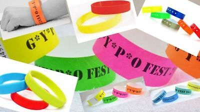 £5.50 • Buy 100 PRINTED 3/4  Tyvek Wristbands, Party, Events,Nightclub, ID,Security