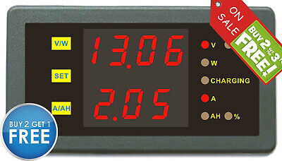 £36.50 • Buy DC 0-120V 0-100A Voltage Amp Watt Meter Capacity Percent Battery State Of Charge