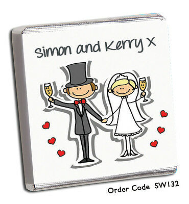 £11.99 • Buy 50 Chocolate Wedding Favours, Personalised, Wide Choice Of Designs**