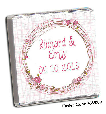 £8.99 • Buy 50 Personalised Chocolate Wedding Favours 100's Designs, Best  On Ebay/free P+p