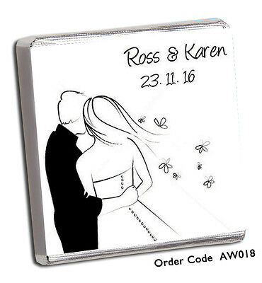 £8.99 • Buy 50 Personalised Chocolate Wedding Favours,  *HUGE CHOICE FREE P+P*