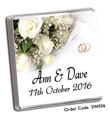 £8.99 • Buy 50 Personalised Chocolate Wedding Favours//largest Selection On Ebay + Free P+p!