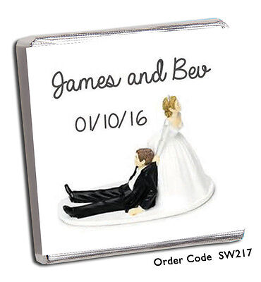 £8.99 • Buy 50 PERSONALISED CHOCOLATE WEDDING FAVOURS, 100's DESIGNS *** FREE POSTAGE***