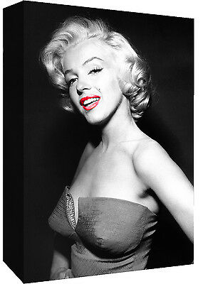 £18.49 • Buy Marilyn Monroe With Red Lips - Cotton Canvas Wall Art Picture Print- ALL SIZES