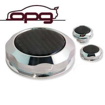 AU75 • Buy Chrome Carbon Top Alloy Billet Engine Cap Kit For VF Holden SS SSV 6.0L LS2 L98