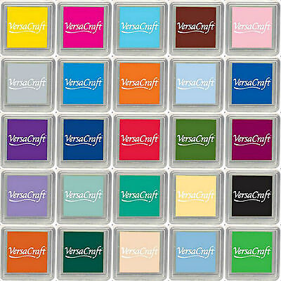 VERSACRAFT INK PAD SMALL CUBE PIGMENT INK PADS. CHOICE Of 32 COLOURS. FREE POST • 2.29£