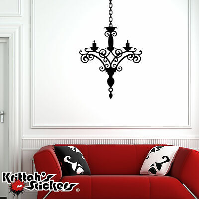 £15.58 • Buy Chandelier Vinyl Wall Decal Living Family Room Bedroom Home Decor Sticker CH02