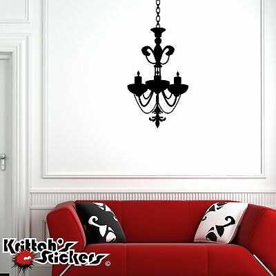 £17.70 • Buy Chandelier Vinyl Wall Decal Home Decor Candle Candelabra Gothic Art Sticker CH04