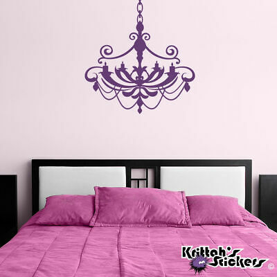 £9.20 • Buy Chandelier Vinyl Wall Decal Home Decor Candle Candelabra Gothic Art Sticker CH05