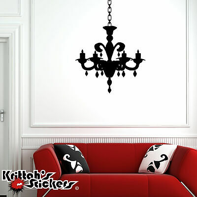 £17.70 • Buy Chandelier Vinyl Wall Decal Candelabra Candle Home Decor Gothic Art Sticker CH07