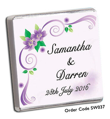 £8.99 • Buy 50 Personalised Chocolate Wedding Favours, & Free Choc, Add Your Photo For Free!