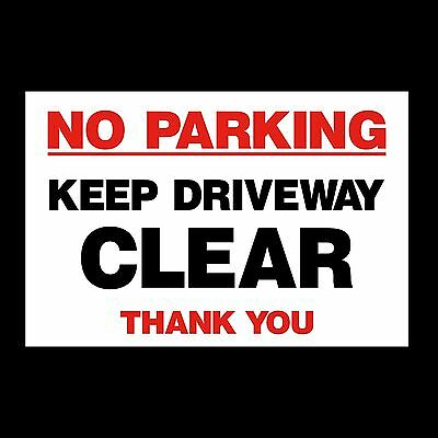 £1.99 • Buy No Parking - Keep Driveway Clear Sign Plastic Sign Or Sticker (MISC42)