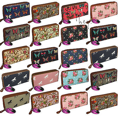 Big Purse Ladies Large Long Wallet Card Holders Zipped Coin Womens Vintage Retro • 5.99£