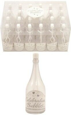 £12.99 • Buy 48x Champagne Bottle Wedding Favours Bubbles Party Table Decorations In White UK
