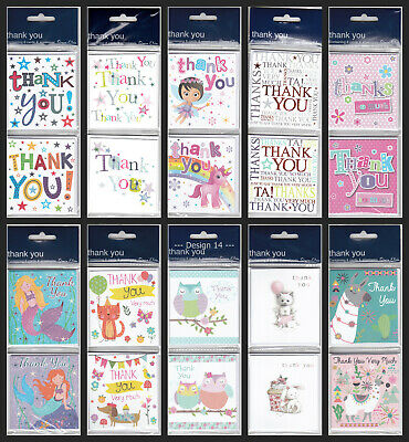 £3 • Buy Thank You Twin Design Pack Of 8 Cards Christmas / Wedding / Baby - 17 Designs