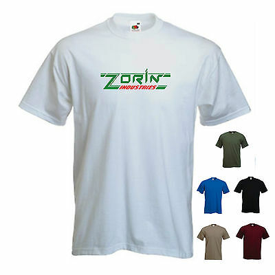 'Zorin Industries' A View To A Kill James Bond Movie Funny T-shirt Tee • 11.69£