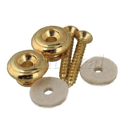 $ CDN7.35 • Buy Delicate Gold Pair Guitar Strap Buttons For Electric Guitar