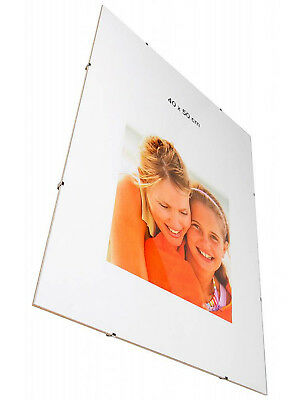 £5.82 • Buy Clip Frames Frameless Photo Poster Certificate Artwork Picture Frames Many Sizes