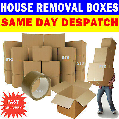 NEW 20 X LARGE Cardboard House Moving Boxes - Removal Packing Box • 18.50£