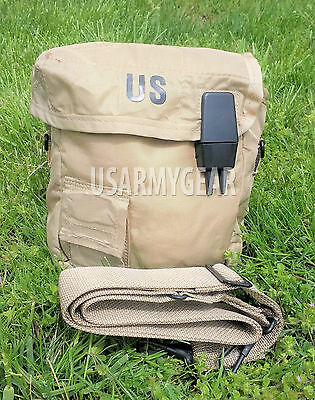 $ CDN27.83 • Buy 2 QT Collapsible Water Canteen Cover Pouch W / Sling Desert Tan US Army Military