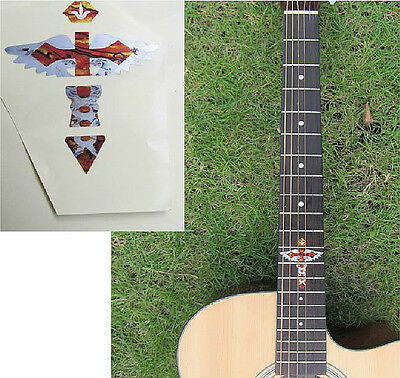 Guitar Inlay Stickers Cross & Wing Pattern Decals • 5.62£