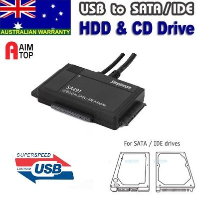 AU39.90 • Buy 3-IN-1 USB 3.0 To 2.5 , 3.5  & 5.25  SATA/IDE Adapter With Power Supply